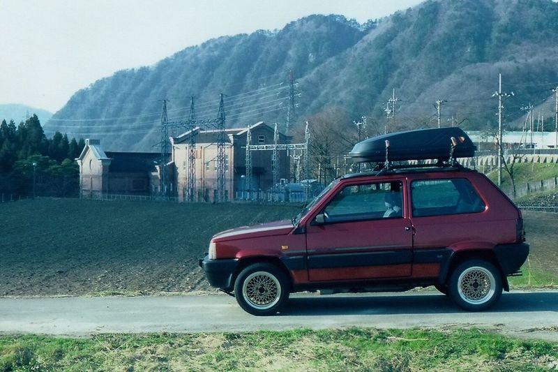DenkiPanda! Fiatpanda Panda Fiat Four Wheel Drive 4x4 Sunroof Giugiaro  SteyrDaimlerPuch Car 4wd Hakusan-shi Power Plant Hydroelectric Power 50mm 1.4