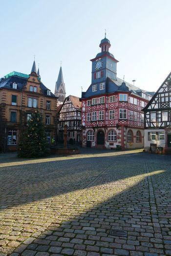 visiting Heppenheim today,hometown of sebastian vettel.... Germany The Places I've Been Today Cobblestones Fachwerkhäuser Oldtown Timbered Houses