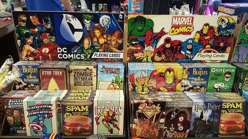 These playing cards are pretty cool and interesting!! Playingtime Playingcards Rocketfizzmountainview Doyouwantit Marvel Ironman Spam Marvelcomics Dccomics Startracks Zombies  Hulk Adventureintime Beatles Startrek
