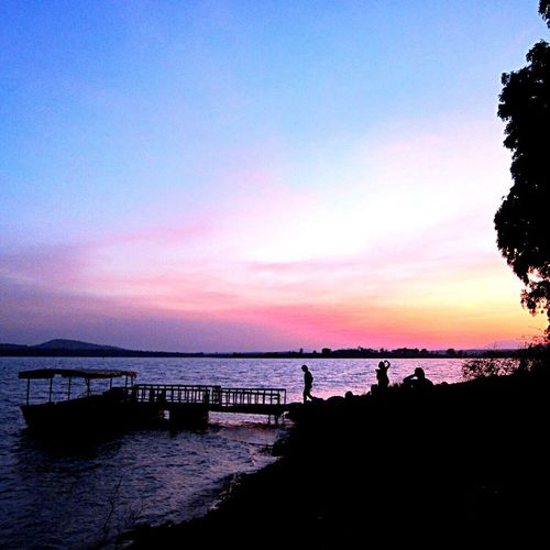River Safari India Life Southindia Eye4photography  From My Point Of View Beautiful Nature EyeEm Nature Lover Landscape Nature Clouds And Sky Sunset Traveling Travel Photography Orange County Kabini Calm Boats EyeEm Best Shots