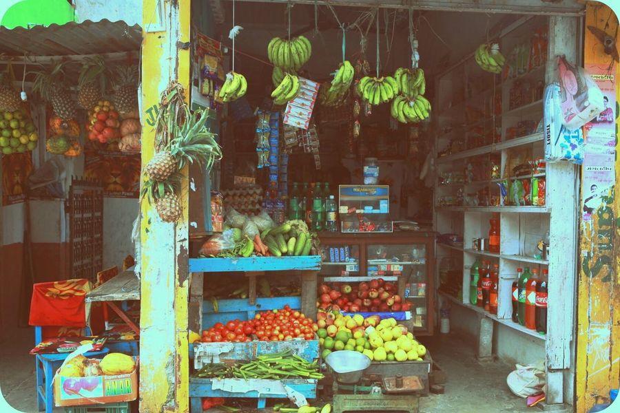 Travel Memory Of Travel 2014 Nepal fruit shop in Kathmandu