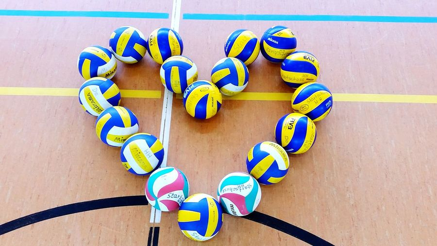 Volleyball Sports Balls Love Gym Gym Floor Heart Heart Shape Heart Shaped  Heartshape Volleyballs Volleyball Pictures Court Playing Field Volleyball Lovers Beach Volleyball Floor Lines Ball Field Gymnasium Sport Equipment Sport Equipment Mikasa Molten