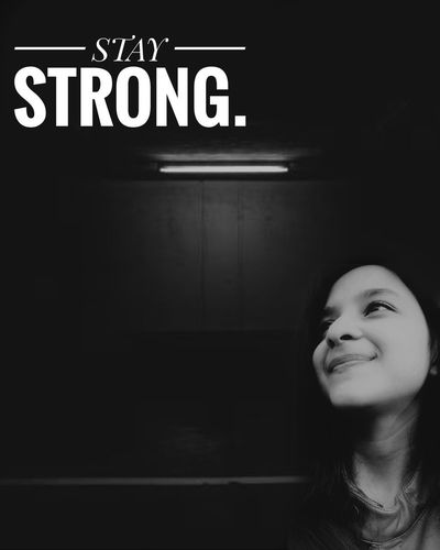 Come What May. Dim Light Strength Staystrong Motivation Black And White Text Happiness Capital Letter
