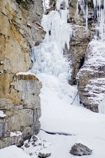 Canada Rock - Object Nature Winter Snow Tranquil Scene Scenics No People Tranquility Cold Temperature Beauty In Nature Landscape Outdoors Day Mountain Sky