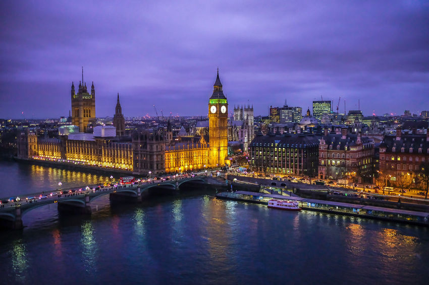 Architecture Big Ben Bridge - Man Made Structure Building Exterior Built Structure City Cityscape Clock Tower Connection Dusk Government Illuminated Mystery Night No People Outdoors Purple Color Reflection River Sky Transportation Urban Skyline Water Waterfront Westminster