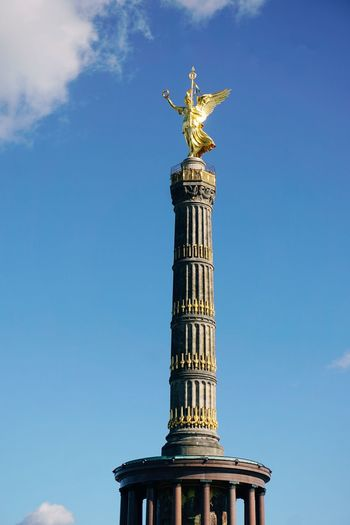 The Victory Column Siegessäule  Berlin Victory Column Travel Destinations Tourist Attraction  Tourist Destination City Sightseeing City Statue Sculpture Architectural Column Sky Architecture Building Exterior Monument Angel Neo-classical Memorial Female Likeness City Gate National Monument