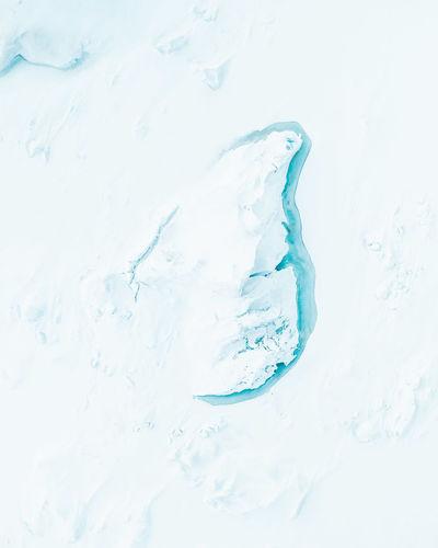 Close-up of water splashing in snow