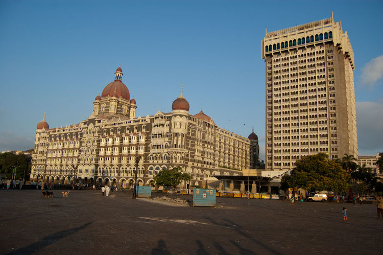 Architecture Blue Built Structure City Façade Hanging Out Incredible India India Tourism Leisure Activity Modern Mumbai Sky Taj Mahal Hotel, Mumb TAJ MAHAL HOTEL, MUMBA Tall - High Tower Town Square Vacation
