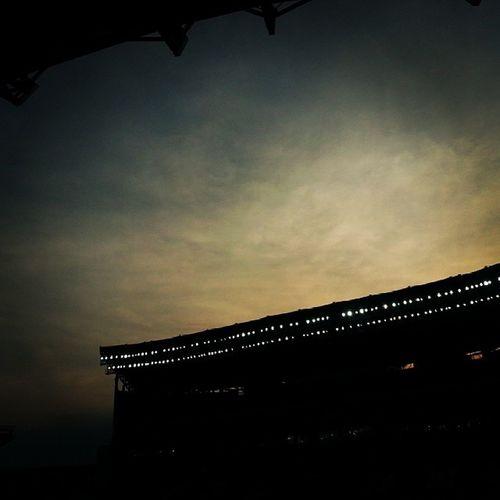 Закат над стадионам Ахмат_Арена очень красиво было, а Терек красавцы, 1:0 пользу Терек, а Спартак пока что одержала положение, ТерекоднаждыТерекнавсегда
