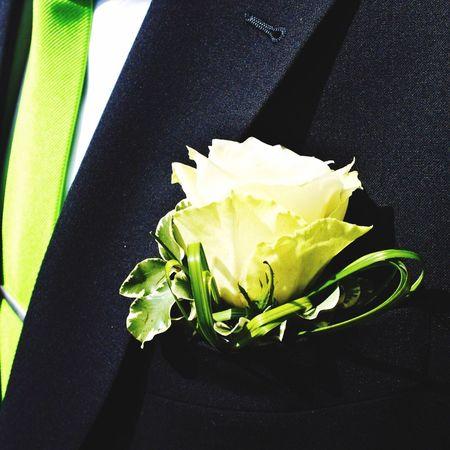 Hochzeitstag Wedding Green Tie Black Suit