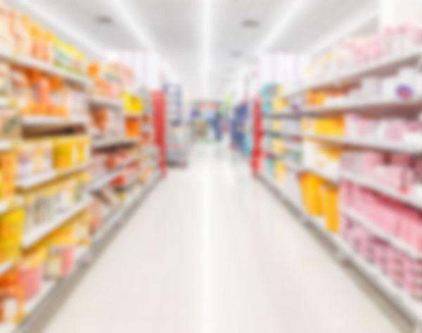 Blur supermarket background
