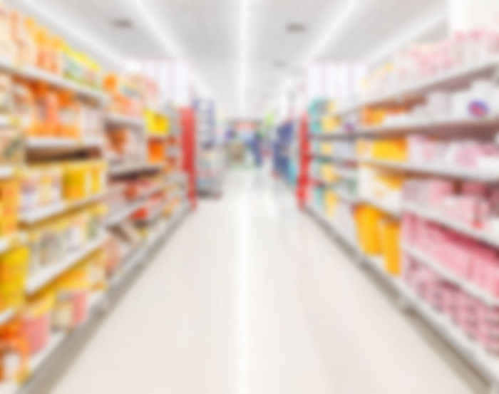 Blur supermarket background