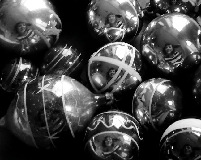 This photo is somewhat full frame madness really. A bit of snday fun whilst photographing some new vintage finds for work! Vintage Vintage Decor Vintage Christmas Vintage Christmas Decorations Christmas Decorations Christmas Time Eyeem Christmas Baubles Reflection Portrait Self Portrait Reflected Portrait Showcase: November IndoorPhotography Picturing Individuality Geometric Shapes Circle Monochrome Black And White EyeEm Best Shots - Black + White EE_Daily: Black And White Black And White Portrait Monochrome Portrait Product Photography Studio Shot