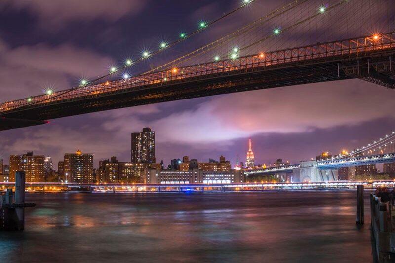 Cities At Night Nightphotography Landscape Cityscapes New York City Manhattan Broklyn Bridge
