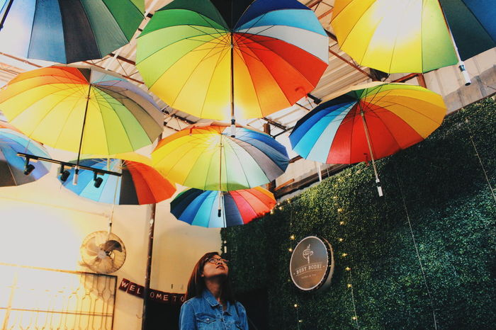 Dramatic Angles Rainbow Umbrella From The Bottom Photography Penang Street Art Photo Walk Georgetown Penang Malaysia