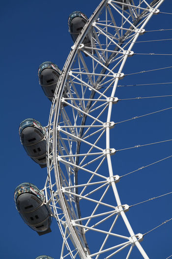 EyeEm Selects Arts Culture And Entertainment Amusement Park Ferris Wheel Amusement Park Ride Travel Destinations No People Sky Blue Clear Sky Day Outdoors Landmark London Tourism The London Eye Fun