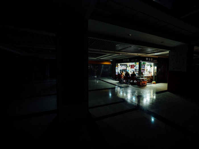 Architecture Built Structure Dark Illuminated Indoors  Mall Manicure Night No People Shopping Centre Streetphotography