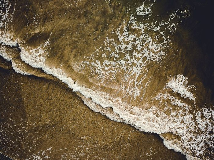 Layers Close-up Sea Water Beauty In Nature Pattern Nature Full Frame Beach High Angle View Sand Creativity Day