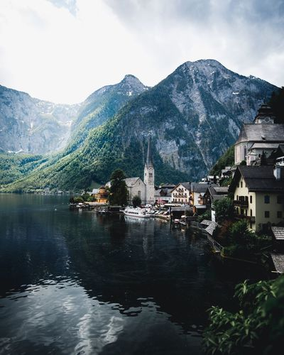 Hallstatt summer morning Hallstatt Mountain Built Structure Building Exterior Architecture Water Sky Building Tree Plant Nature No People Mountain Range Cloud - Sky Residential District Waterfront City Beauty In Nature Day Lake Outdoors