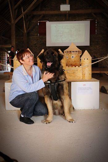 Leon et ma Maman au Château Médiéval de Guedelon