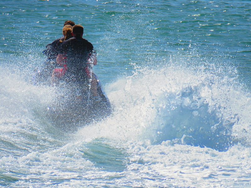 Sea Outdoors Leisure Activity Adventure Water Vacations Motion Wave Fun In The Sun Fun! Jetskiing Jet Skiing Jetski Activity Holiday Holiday Memories Vacation Photos   Vacation Time Summer Holidays Summer Fun Waves Sea Spray Water Splash Motion Photography Action Sports