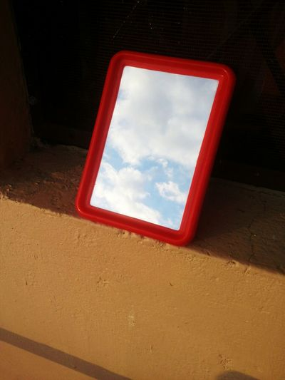 Reflections Red Cloud - Sky No People Outdoors Nature Day Sky Evening Mirror Reflection No Edit/no Filter Flying High Reflection_collection Window Clouds Clouds And Sky The Secret Spaces Art Is Everywhere TCPM Break The Mold Rethink Things Be. Ready. Perspectives On Nature Visual Creativity