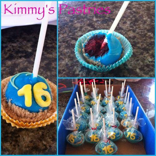 Upside down cake pops ($2 each)