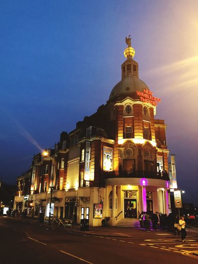 Wimbledon Theatre Theatre Architecture Building Exterior Built Structure Illuminated Night Building Sky