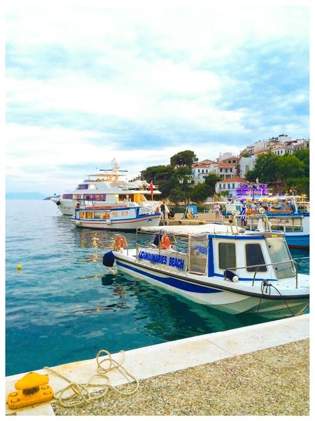 Skiathos old harbour water taxi Taking Photos Check This Out IPhoneography Skiathos
