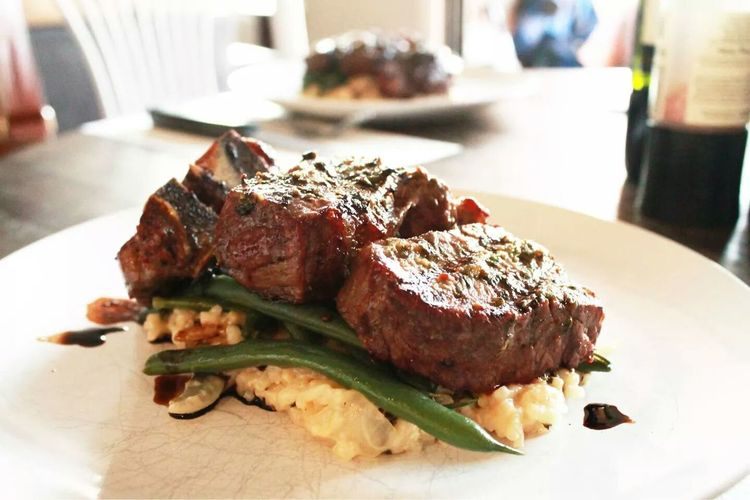 Lamb with Lemon, mint and basil risotto. What's For Dinner?