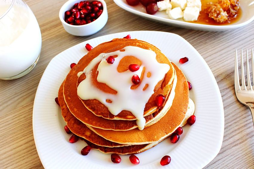 Food Food And Drink Plate Sweet Food Dessert Freshness Table Temptation Fruit Breakfast Pancake Ready-to-eat