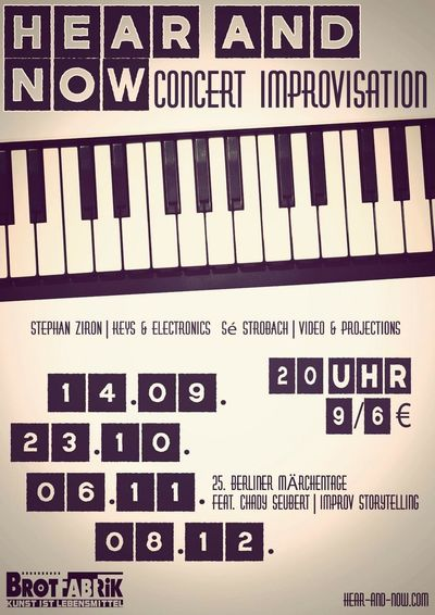 Up coming improvisation concerts Concert Brotfabrik Berlin Jazz Concert