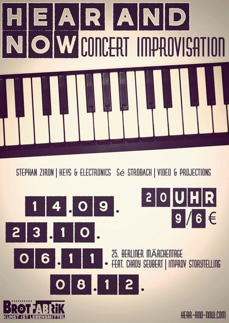 Up coming improvisation concerts Concert Brotfabrik Berlin Jazz Concert