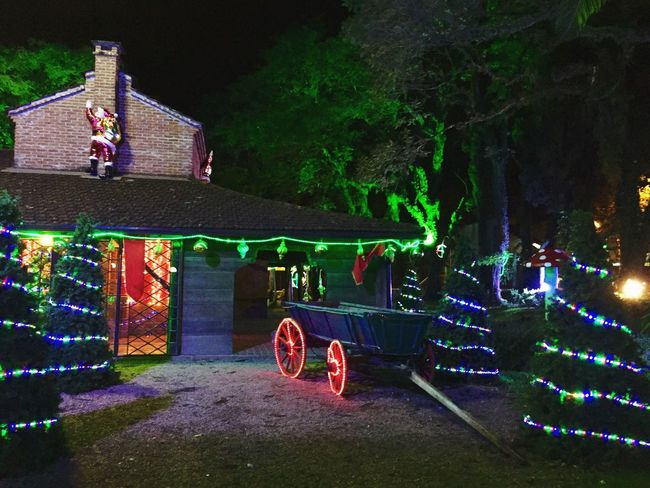Best Christmas Lights Country Christmas Decoration Noel2015 Christmastime in Santa Cruz do Sul, RS. Oxcart