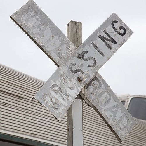 Railroad Train Sign