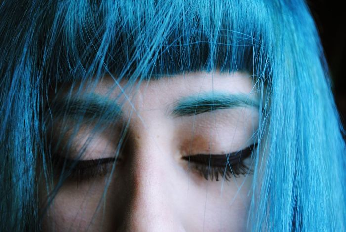 That's Me Taking Photos Let Your Hair Down Winners Portrait Human Face Color Front View Human Body Part BlueHair Dyed Hair Fresh On Market 2018