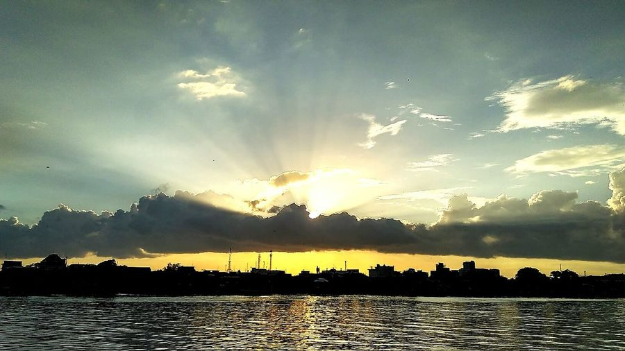 Sunset di sungai kapuas First Eyeem Photo