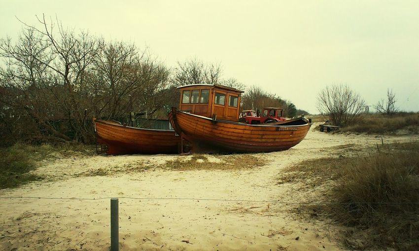 Ahlbeck Fischerboote Dünen Usedom
