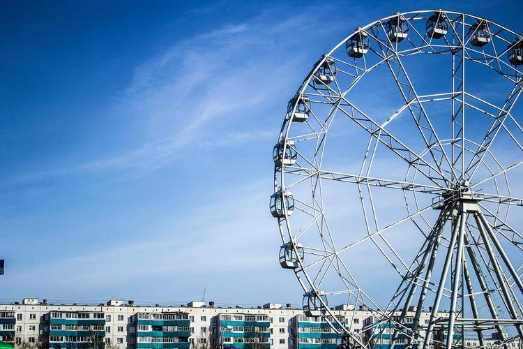 Amusement Park Arts Culture And Entertainment Ferris Wheel Blue Sky Outdoors No People Amusement Park Ride Day Nature