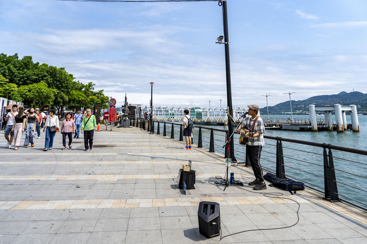 street lifestyle of Tamsui /Taiwan most popular destination Street Musician Tamsui River Tamsui Taiwan Summer Holiday Moments Street Life Travel Destinations One Fine Day!