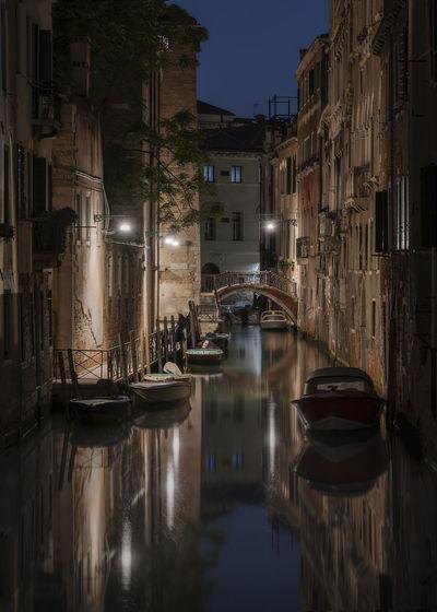 Venice at night. view of  rio de la tetta