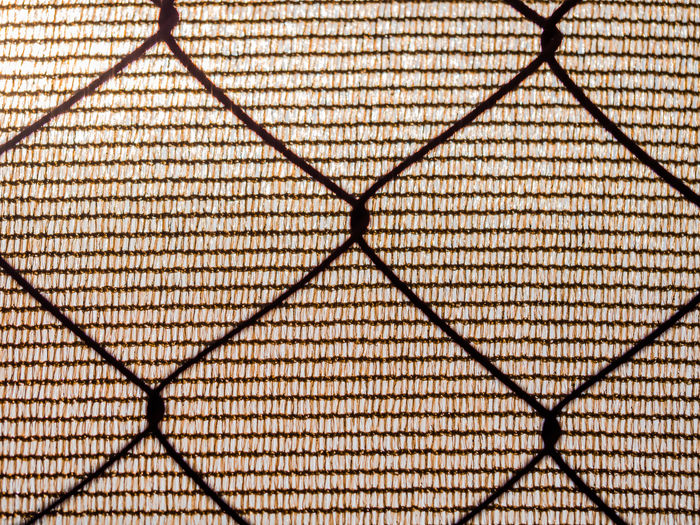 covered grid Metalic Backgrounds Chainlink Fence Close-up Covered Gri Day Full Frame Indoors  Low Angle View Metal No People Pattern Protection Textile And Metal