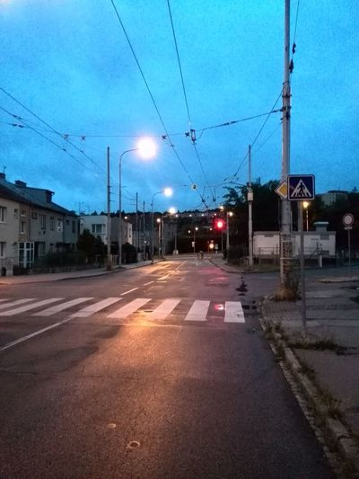 Brno's Empty Streets on my way to work this morning at 4:36 a.m.