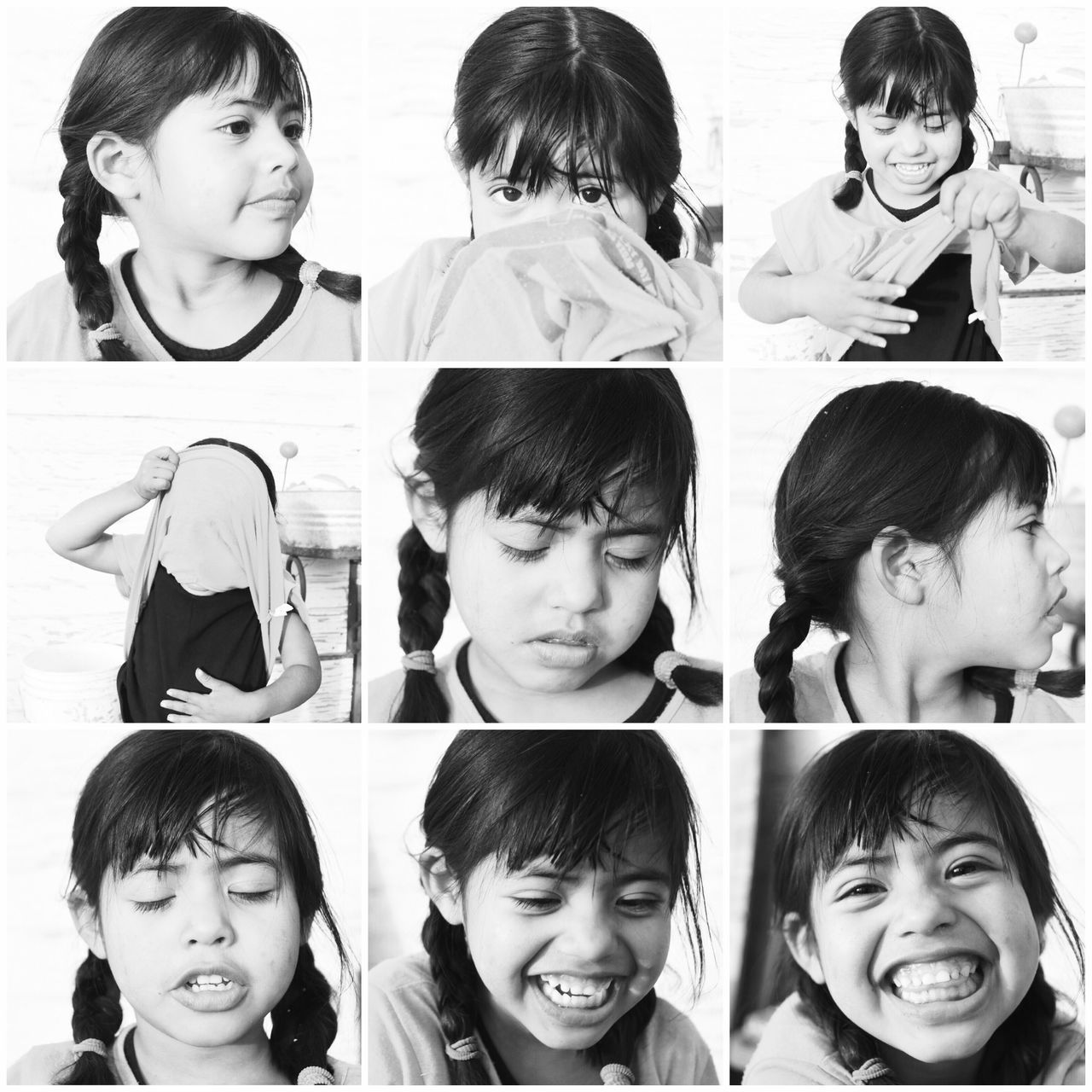 childhood, multiple image, headshot, happiness, smiling, communication, girls, child, making a face, elementary age, boys, children only, cheerful, portrait, education, looking at camera, eyeglasses, real people, indoors, hands covering ears, friendship, people, close-up, day, adult