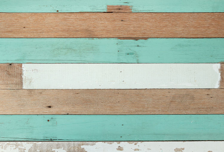 Wood wall texture for background. Architecture Backgrounds Blue Brown Built Structure Close-up Day Full Frame Green Color No People Outdoors Paint Pattern Plank Striped Textured  Turquoise Colored Wall - Building Feature White Color Wood - Material
