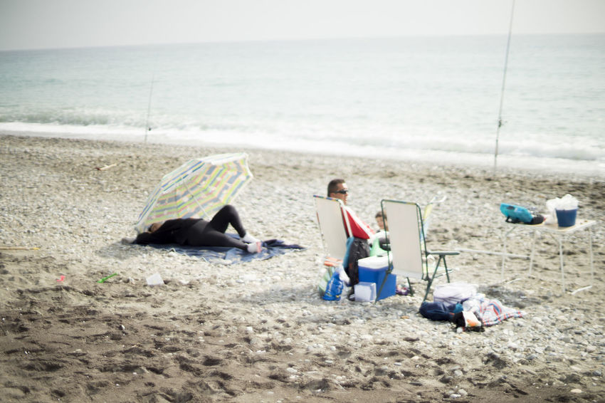Adult Beach Calahonda Leisure Activity Relaxation Sand Sea Sitting Vacations