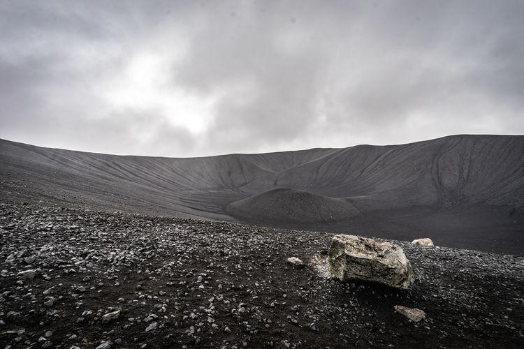 Scenic view of vulcan against sky