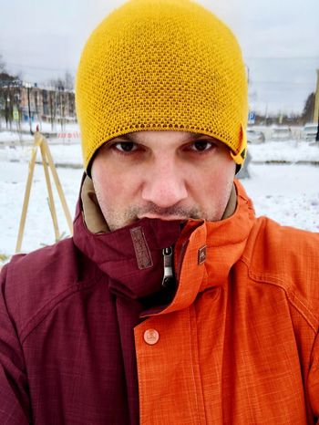 Winter Cold Temperature Snow Warm Clothing Portrait Looking At Camera Day