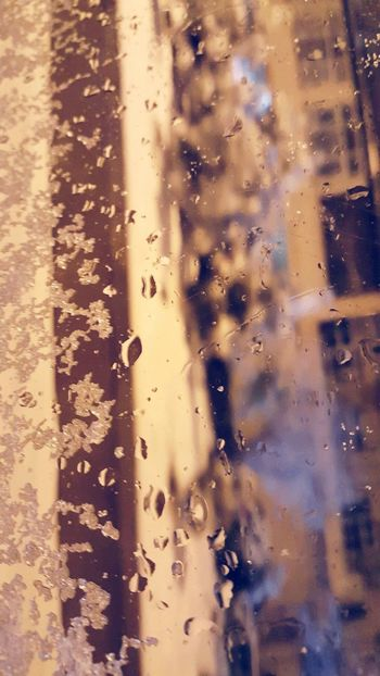 Nature Backgrounds No People Water Full Frame Abstract Close-up Day Outdoors Beauty In Nature Snow Eyeme New Here Window Windows Window View Window Frame Baku Baku Azerbaijan Drops Drops Of Water Raindrops Rain