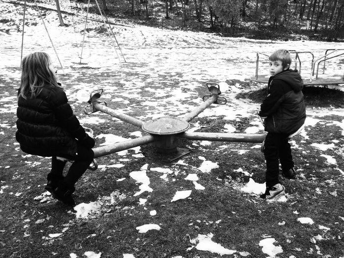 Children Seesaw Playground